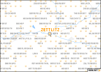 map of Zettlitz