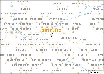 map of Zettlitz