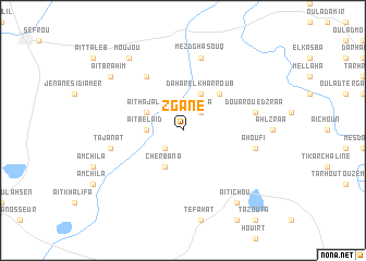map of Zgane