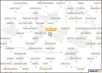 map of Zgoda