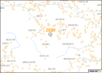 map of Zgon