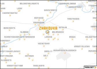 map of Zhakovka