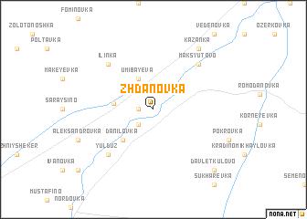 map of Zhdanovka