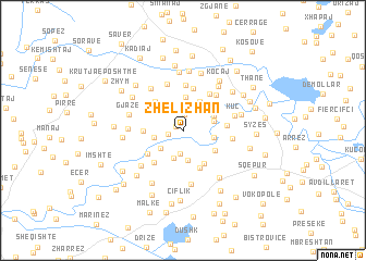 map of Zhelizhan
