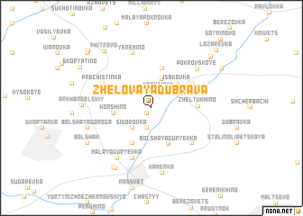 map of Zhelovaya Dubrava