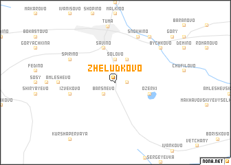 map of Zheludkovo