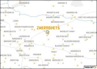 map of Zhernovets