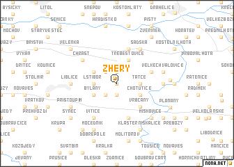 map of Žhery
