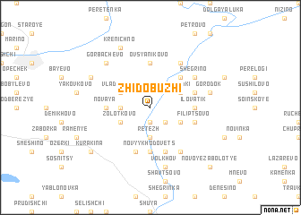 map of Zhidobuzhi