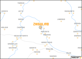 map of Zhidulino