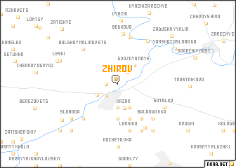 map of Zhirov