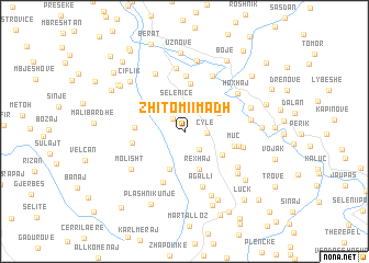 map of Zhitomi i Madh