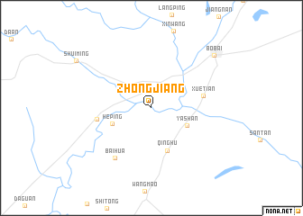 map of Zhongjiang