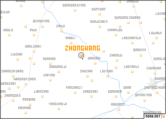 map of Zhongwang