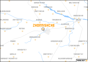 map of Zhornishche