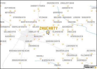 map of Zhuchaty
