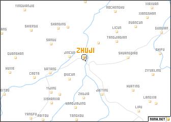 Zhuji China Map Nonanet - Zhuji map