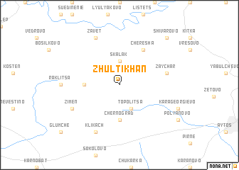 map of Zhŭlti Khan