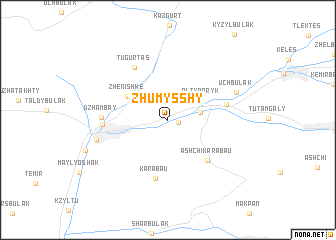 map of Zhumysshy