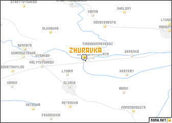 map of Zhuravka