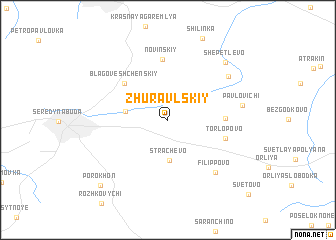 map of Zhuravl\