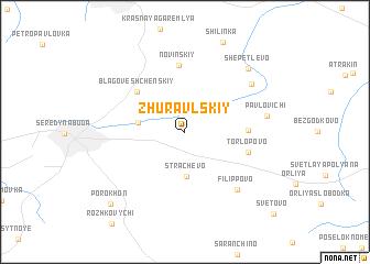 map of Zhuravl\