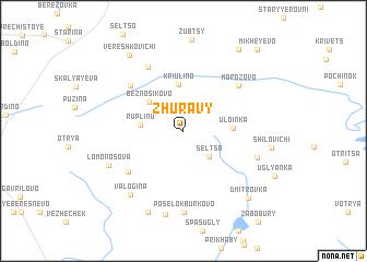 map of Zhuravy