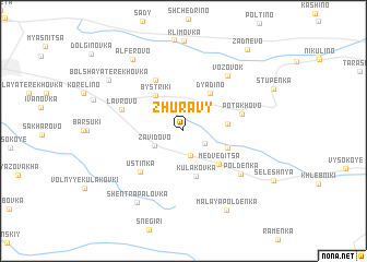 map of Zhuravy