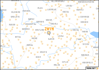map of Zhym