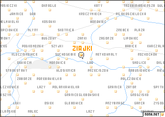 map of Ziajki