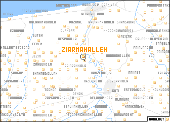 map of Zīār Maḩalleh