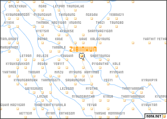 map of Zibinwun