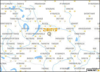 map of Zibinyo
