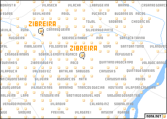 map of Zibreira