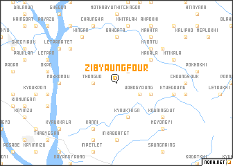 map of Zibyaung Four