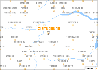 map of Zibyugaung