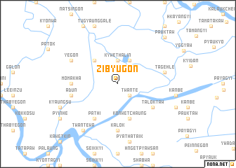 map of Zibyugon