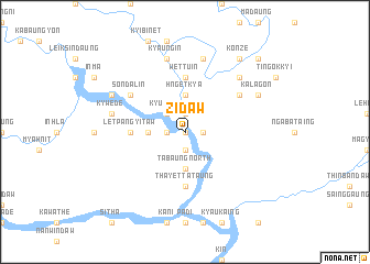map of Zidaw