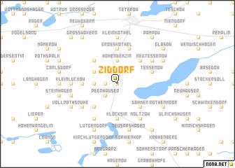 map of Ziddorf