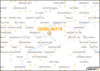 map of Ziegelhütte