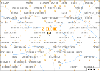 map of Zielone