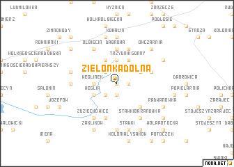 map of Zielonka Dolna