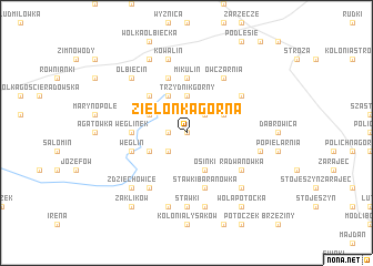 map of Zielonka Górna