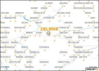 map of Zielonka