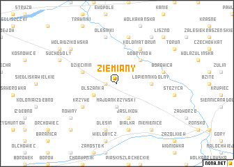 map of Ziemiany