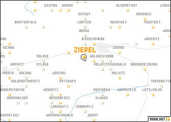 map of Ziepel