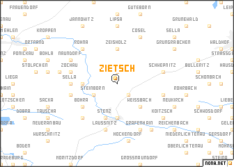 map of Zietsch