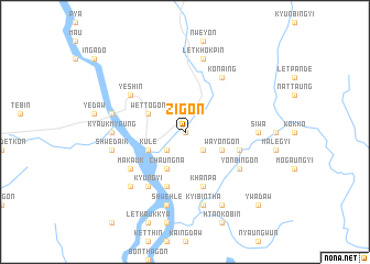 map of Zigon