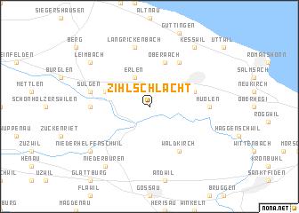 map of Zihlschlacht