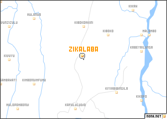 map of Zikalaba